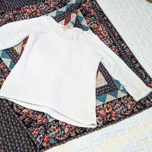Francesca's quilted 3/4 sleeve sweater